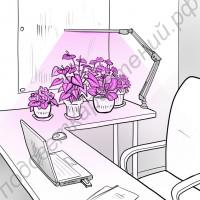 "Лампа для домашних растений на пантографе ""Мицар"""