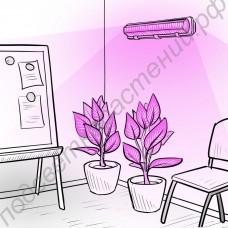 """Настенно-потолочная полноспектровая светодиодная фитолампа Т5/Т8 60Вт """"Пропус"""""""